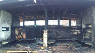 Destroyed Redcar Shelter
