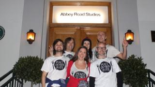 Peace On Your Plate outside Abbey Road studios