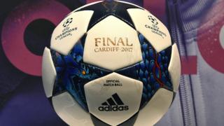 The Champions League final ball