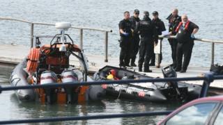 Police at marina