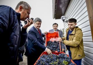 Порошенко відвідав виноградне господарство у с.Біляївка на Одещині, 7 жовтня 2016 року