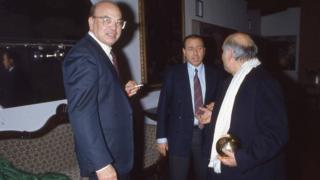 Беттино Кракси и Сильвио Берлускони