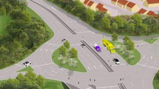 An artist's impression of Wraxall Road Roundabout