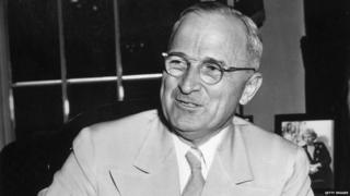 American President Harry S Truman (1884 - 1972) announcing that the Soviet Union is joining the United States, Great Britain and other United Nations in the war against Japan.