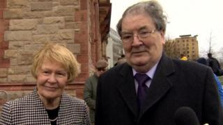 John Hume with his wife Pat