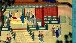 Han dynasty Emperor translating classical books