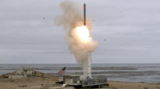 กระทรวงกลาโหมของสหรัฐฯ เผยแพร่ภาพการทดสอบขีปนาวุธ