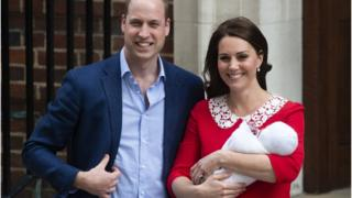 Duke and Duchess of Cambridge with new prince