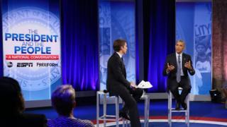 David Muir and Barack Obama