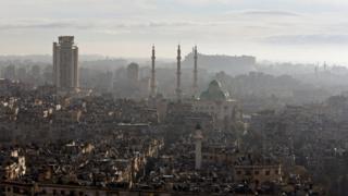 Halep'in dün yayımlanmış fotoğrafı
