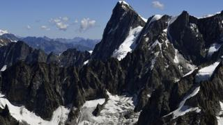 File image of the Grandes Jorasses peak on Mont Blanc