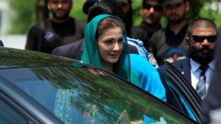 Maryam Nawaz, the daughter of Pakistan's Prime Minister Nawaz Sharif in Islamabad (05 July 2017)