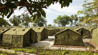 Detention tents on Manus Island
