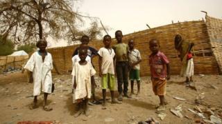 Дети, живущие в Дарфуре