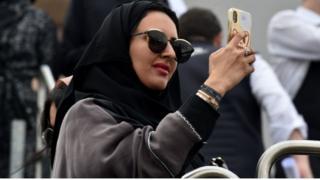 सऊदी अरब की एक युवती