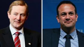 Enda Kenny (left) and Leo Varadkar