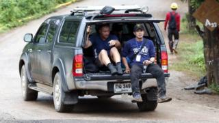 Foreign and Thai rescuers arrive at Tham Luang cave system in Khun Nam Nang Non Forest Park, Chiang Rai province, Thailand, 09 July 2018