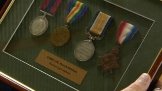 Patrick McGlone's World War One medals