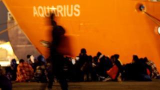 Aquarius, navio que ficou com 629 imigrantes à deriva no Mediterrâneo