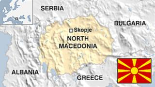Map of North Macedonia