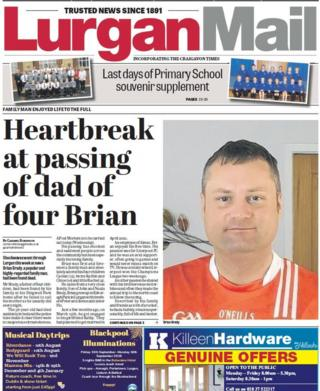Front page of this week's Lurgan Mail