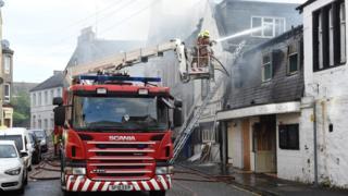 Fire at White Horse Inn