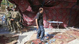 Saldırının düzenlendiği çadır