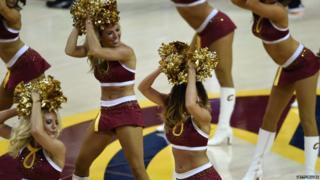 Cleveland Cavaliers cheerleaders perform in June 2015