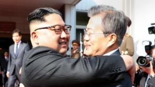 Kim Jong-un and Moon Jae-in meet 26 May
