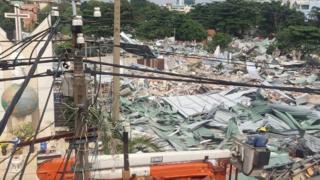 Toàn bộ khu vực vườn rau Lộc Hưng khoảng 48.000m2 đã bị phá hủy hoàn toàn.