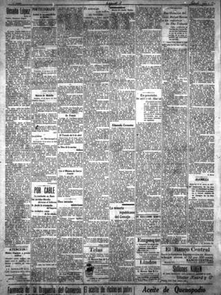 El Tiempo - 17 марта 1917 год