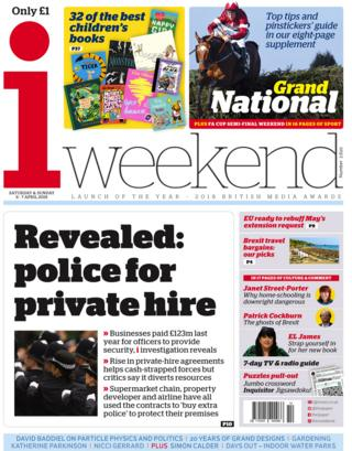 i weekend front page, 6/4/19