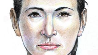 Updated forensic drawing of the Isdal Woman