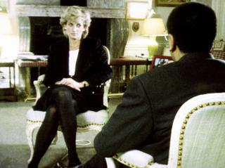 เจ้าหญิงไดอานาระหว่างการประทานสัมภาษณ์กับมาร์ติน บาชีร์ จากบีบีซี
