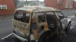 The car was destroyed in the incident which happened in Bishop Street
