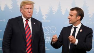 Doanld Trump y Emmanuel Macron
