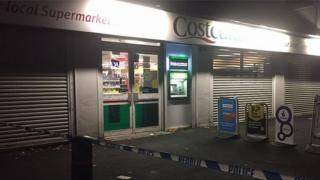 Police cordon outside Costcutter store