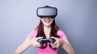 Girl playing game