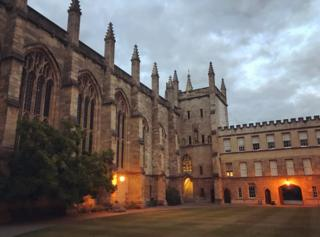 New College, Oxford, at dusk