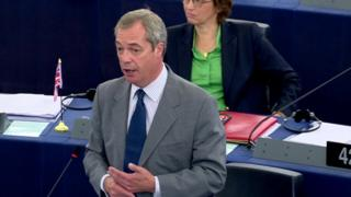 Nigel Farage speaking in European Parliament