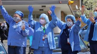Trabajadoras de la salud.