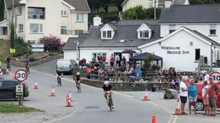 Cyclists competing in the Tenby Long Course Weekend