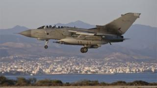 RAF Tornado GR4 returning to RAF Akrotiri in Cyprus