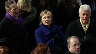 克林顿夫妇将会参加特朗普的就职典礼