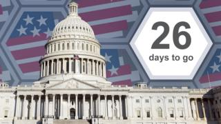 Graphic of the US Capitol building showing 26 days to go
