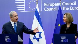 Binyamin Netanyahu ve Federica Mogherini