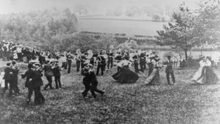 Trade union gathering at Rudyard Lake, 1907