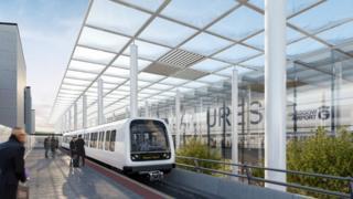 Visualisation of Metro in Glasgow Airport