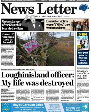 News Letter front page Friday 15 February 2019