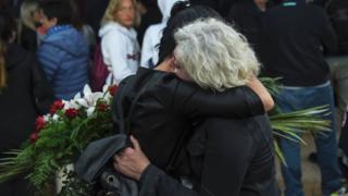 Familiares de las víctimas del terremoto en Italia del 23 de agosto de 2016